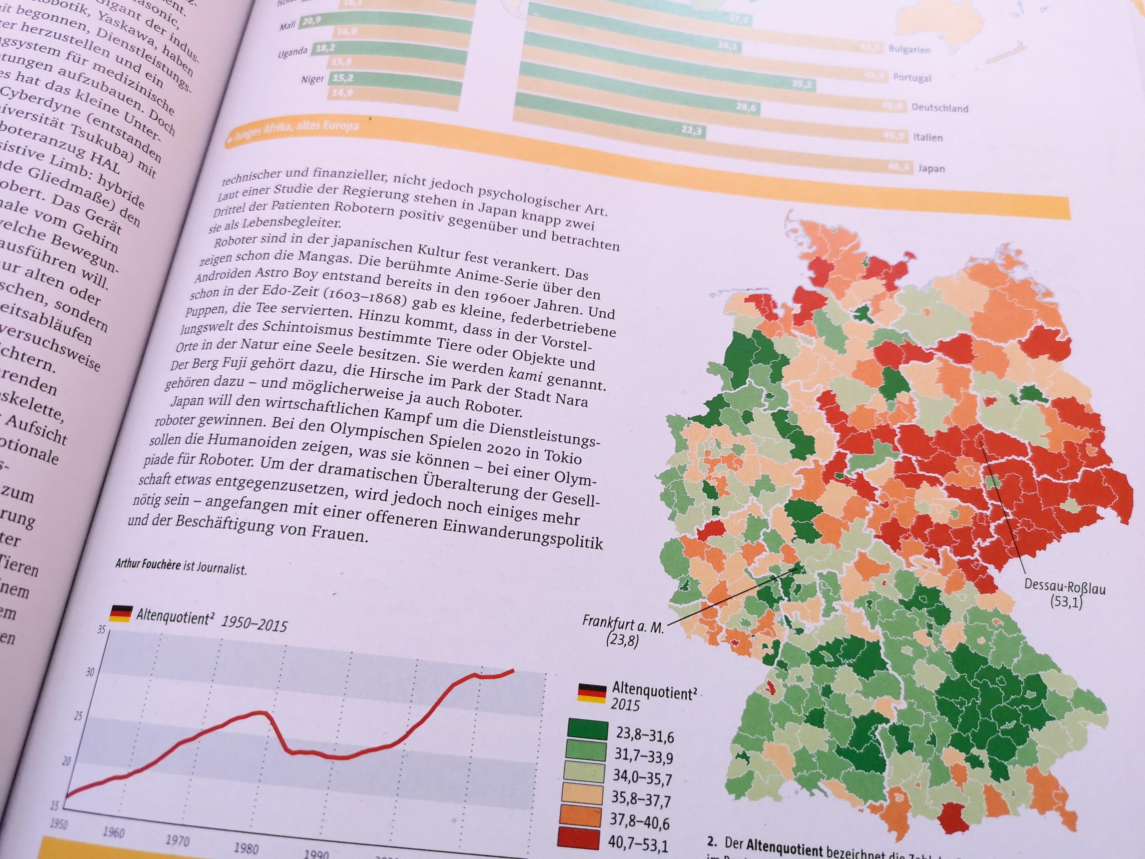 Deutschlandkarte über den Pflegenotstand